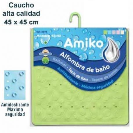 ALFOMBRA DE BAÑO 45x45 VERDE