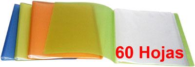 CARPETA DE 60 FUNDAS PLASTICAS A4