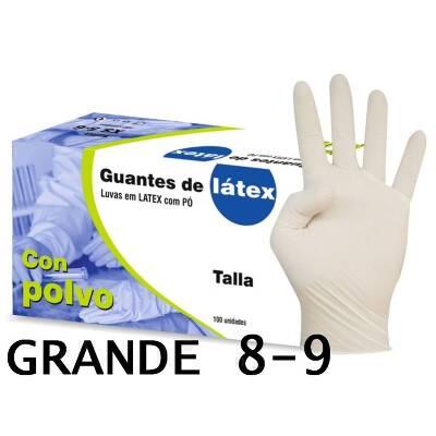 GUANTE LATEX CAJA 100 UDS