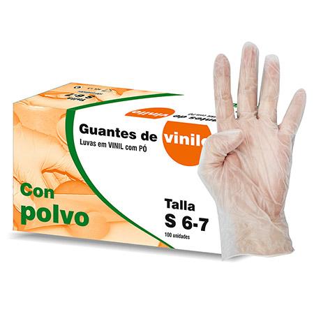 GUANTES DE VINILO CON POLVO