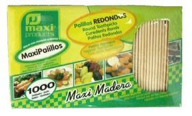 CAJA PALILLOS REDONDOS X1000uni.