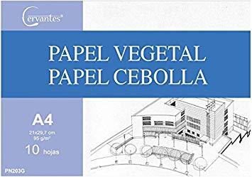 PAPEL VEGETAL A4 X 10 HOJAS