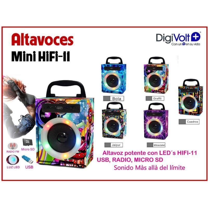 Digivolt Altavoz Hifi11 Mp3 Radio Fm Microsd Usb Y Led 3w
