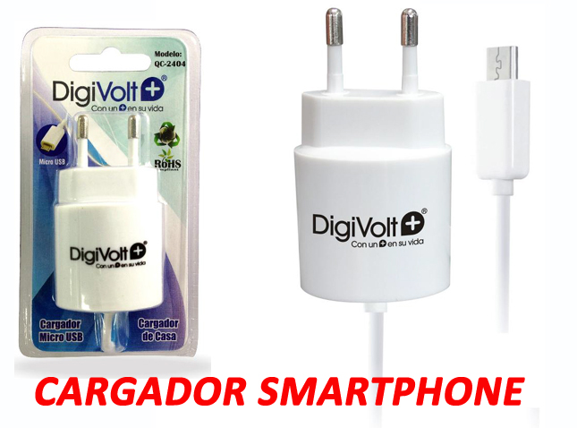 CARGADOR MOVIL MICRO USB ANDROID - 1A