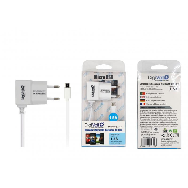CARGADOR MOVIL 1.5 A - ANDROID UNIVERSAL¬