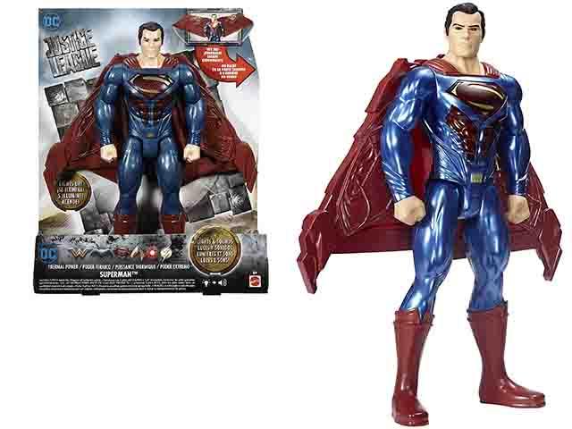 FIGURA SUPERMAN 30CM CON LUZ Y SONIDO