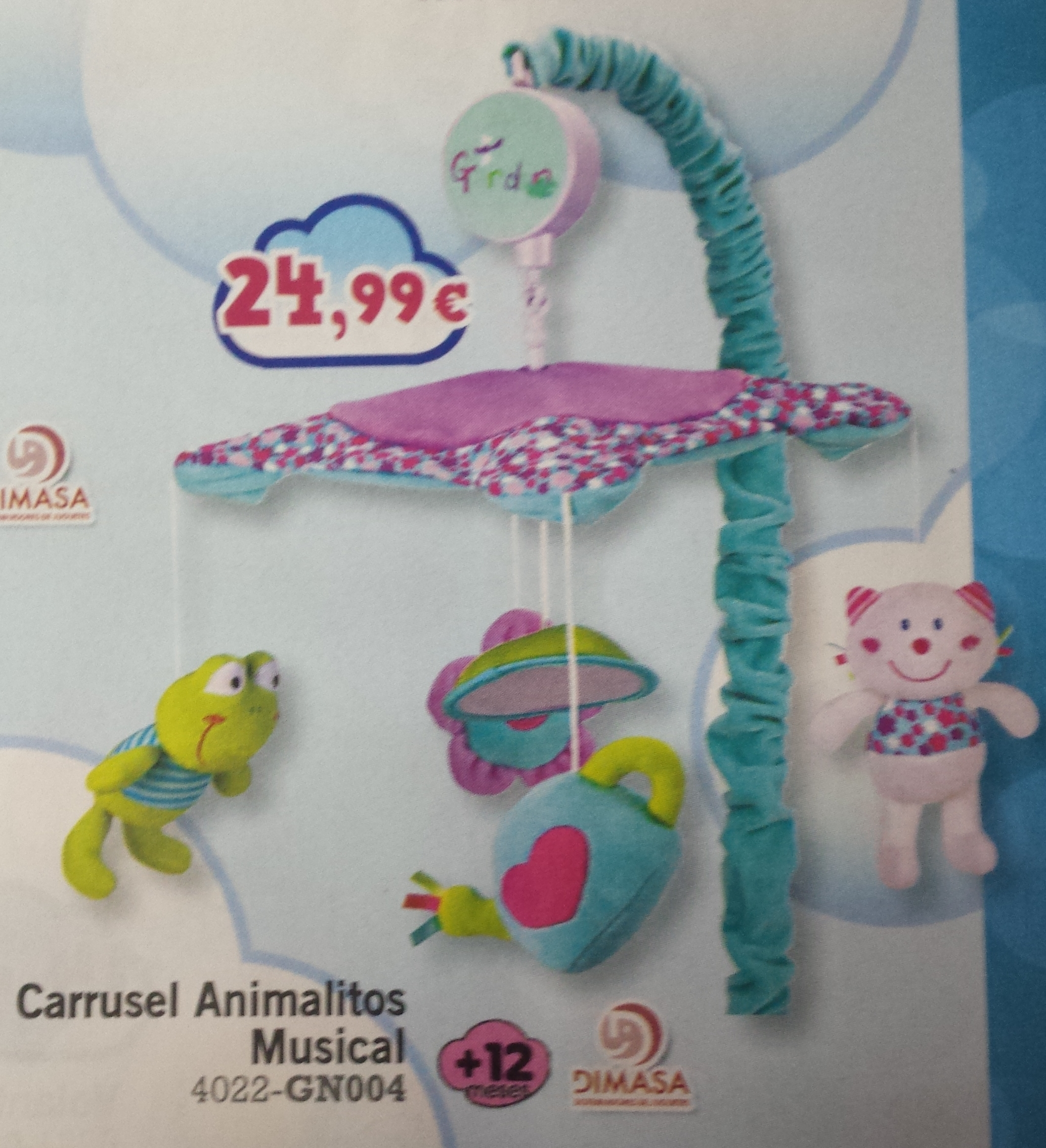 CARRUSEL ANIMALITOS MUSICAL