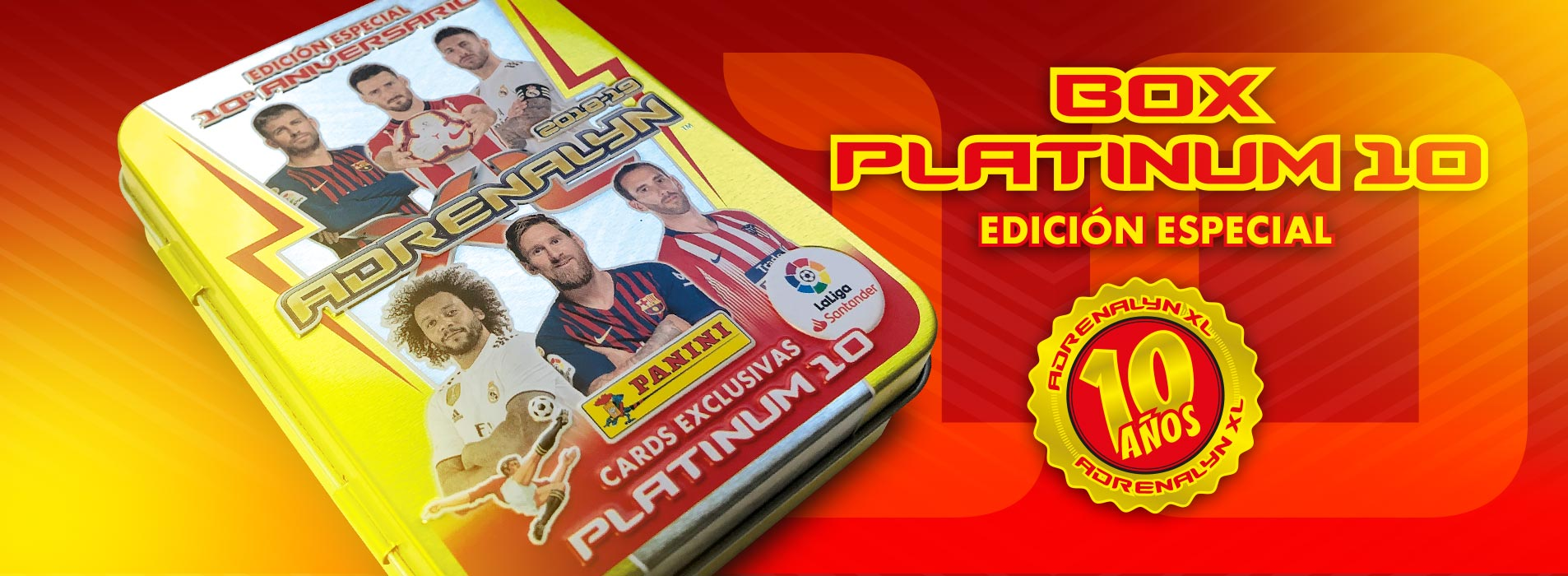 BOX ADRENALYN PLATINUM 10 EDICION ESPECIAL 2018-19