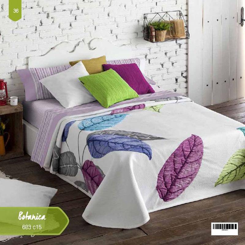 CUBRECAMA BOTANICA 603 color 15 180 cms color 15 150 cms color 15 135 cms