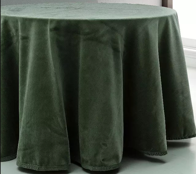 FALDA MESA CAMILLA RECTANGULAR RASCHEL LUCIA C/BOLSA verde rectangular 90x140cm verde rectangular 80x130cm verde rectangular 70x120cm verde rectangular 90x160cm