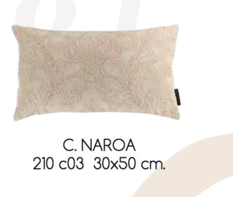 COLCHA NAROA 210 C03-BEIGE COJIN 30x50cm CON RELLENO