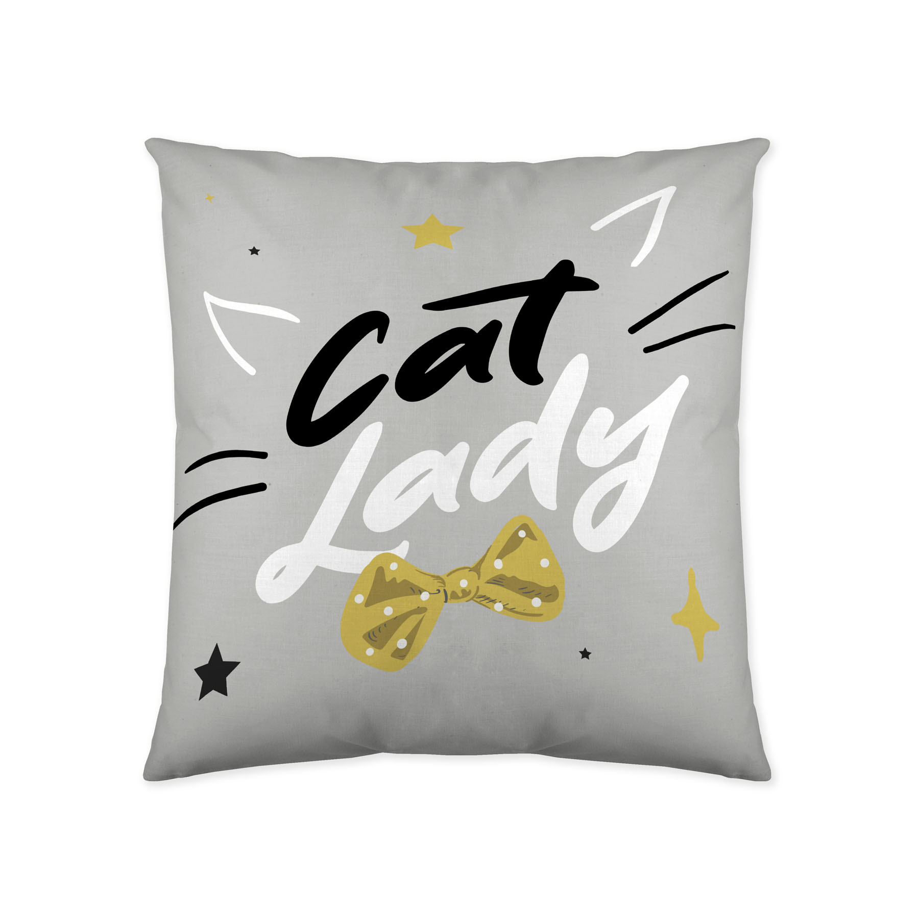 COJIN REVERSIBLE LADY CAT 50x50 cm - SIN RELLENO