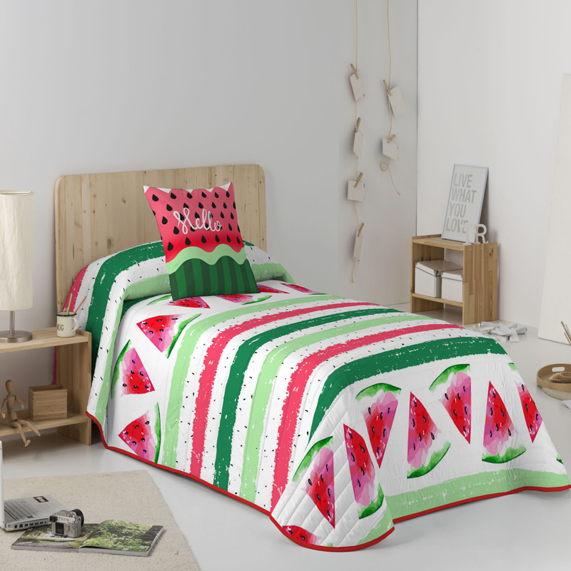 COLCHA BOUTI REVERSIBLE WATERMELON