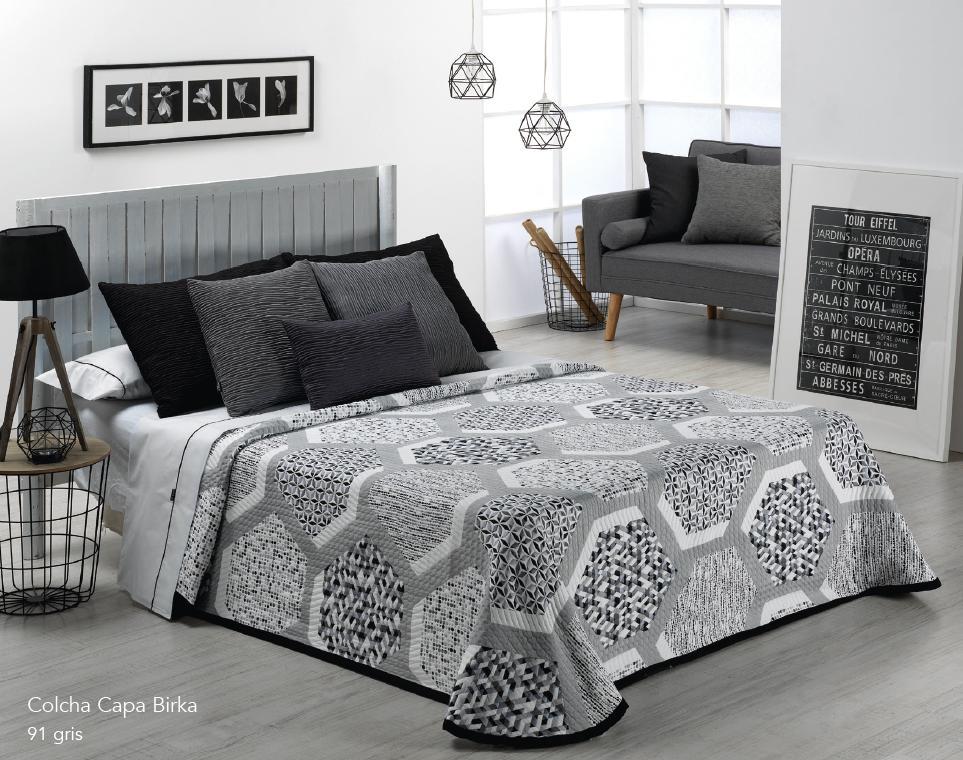 COLCHA CAPA BIRKA 91 - gris 105 cms 91 - gris 120/135 cms 91 - gris 150 cms 91 - gris 160 cms 91 - gris 180 cms 91 - gris 200 cms