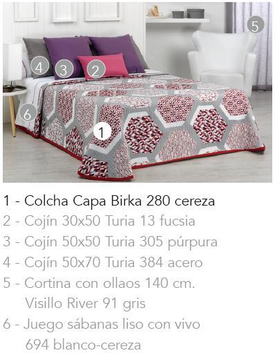 COLCHA CAPA BIRKA 280 - CEREZA 90 cms
