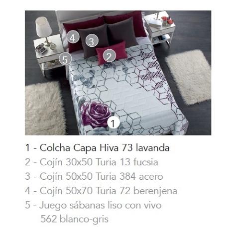 COLCHA CAPA HIVA 73 - LAVANDA 120/135 cms