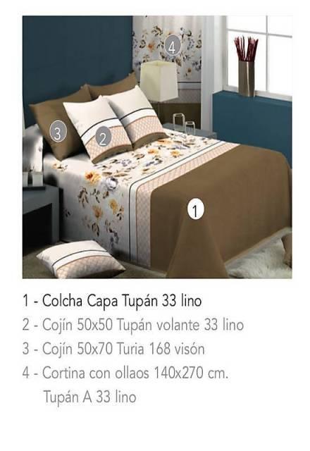 COLCHA CAPA TUPAN 33 - lino 90 cms