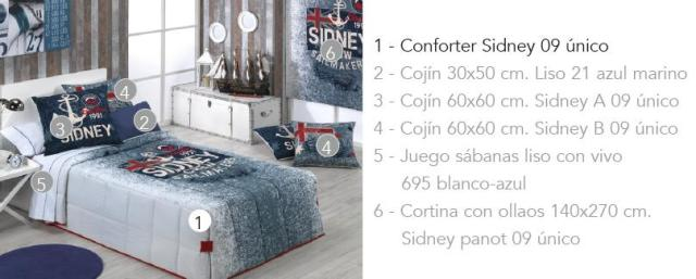 CONFORTER SIDNEY 09 UNICO 80/90 cms