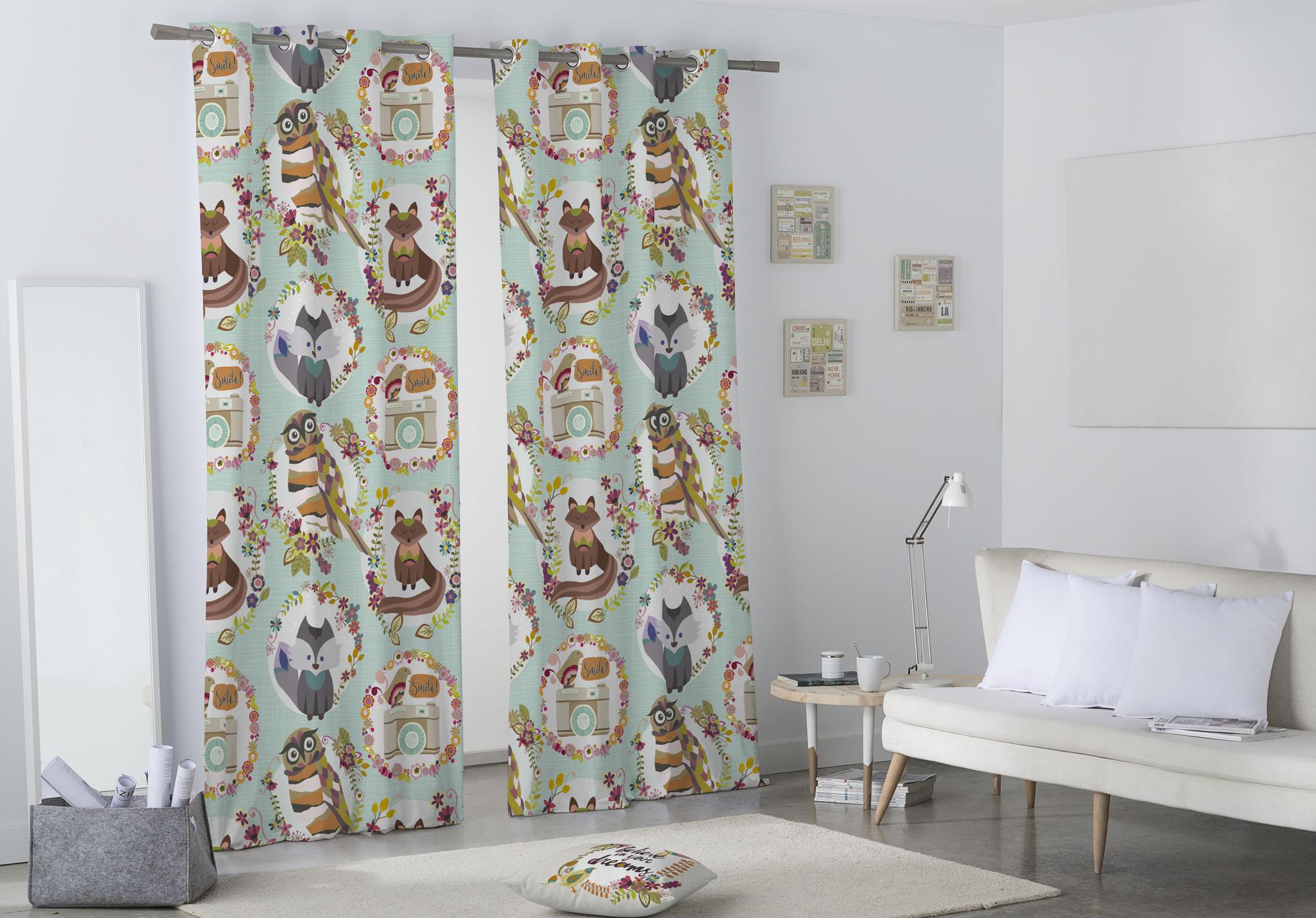 Cortinas estores visillos cortinas trabetas - Cortinas con trabillas ...