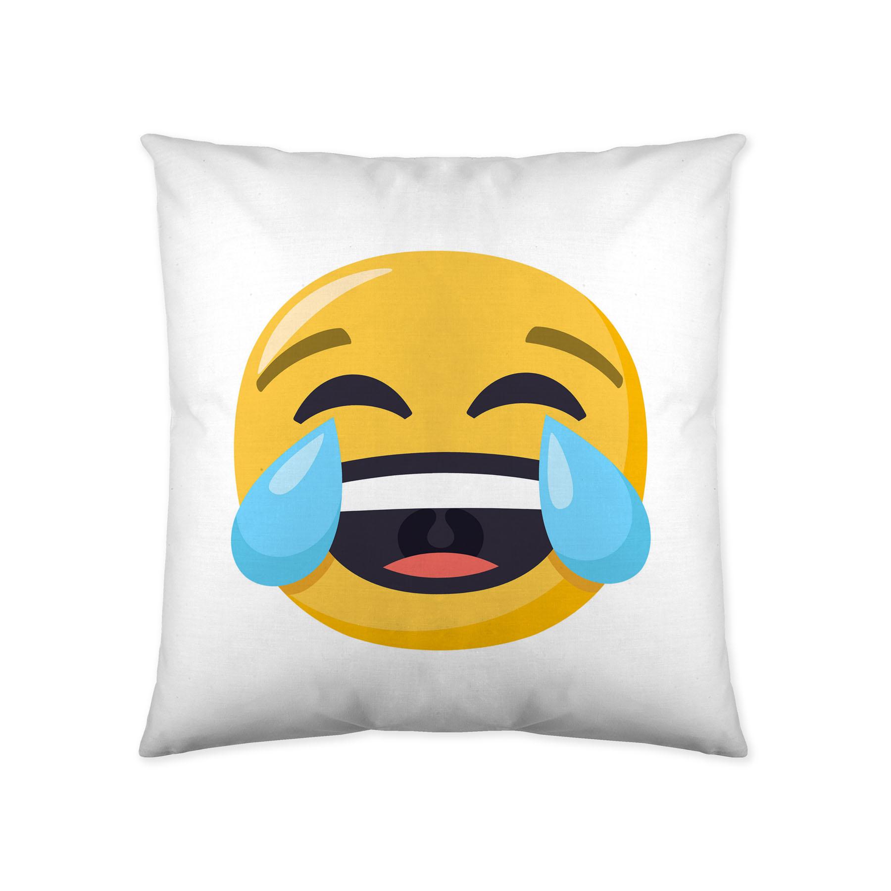 COJIN REVERSIBLE 1 JOY PIXELS EmojiOne 40 x 40 cms con relleno