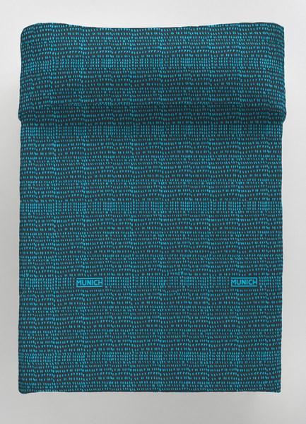 COLCHA BOUTI OSAKA BLUE REVERSIBLE 105 cms 90 cms