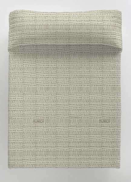 COLCHA BOUTI OSAKA GREY REVERSIBLE 105 cms 90 cms