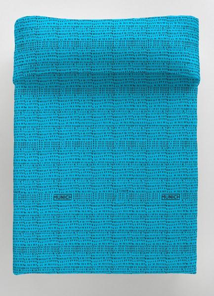 COLCHA BOUTI OSAKA BLUE REVERSIBLE 135 cms