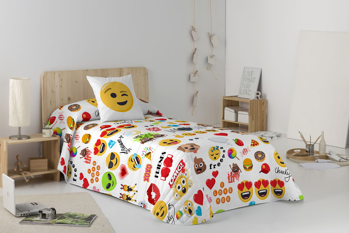 COLCHA BOUTI PARTY  de JOY PIXELS EmojiOne