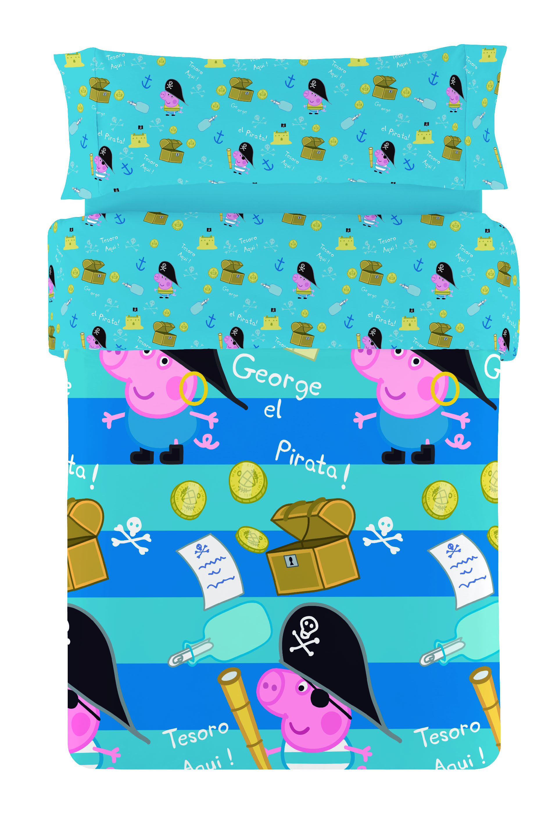 FUNDA NORDICA PEPPA PIG GEORGE PIRATA