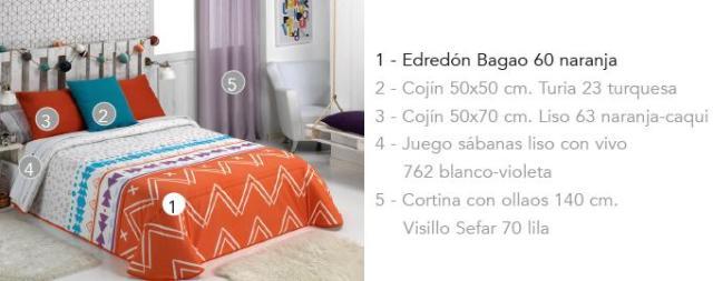 EDREDON BAGAO A 60 NARANJA 90 cms