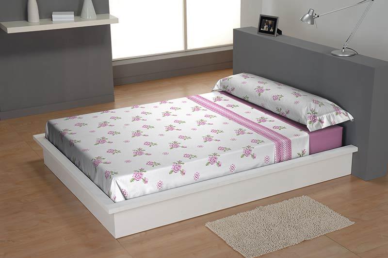 SÁBANAS CORALINA FLOR rosa 150 cms rosa 135 cms rosa 105 cms rosa 90 cms
