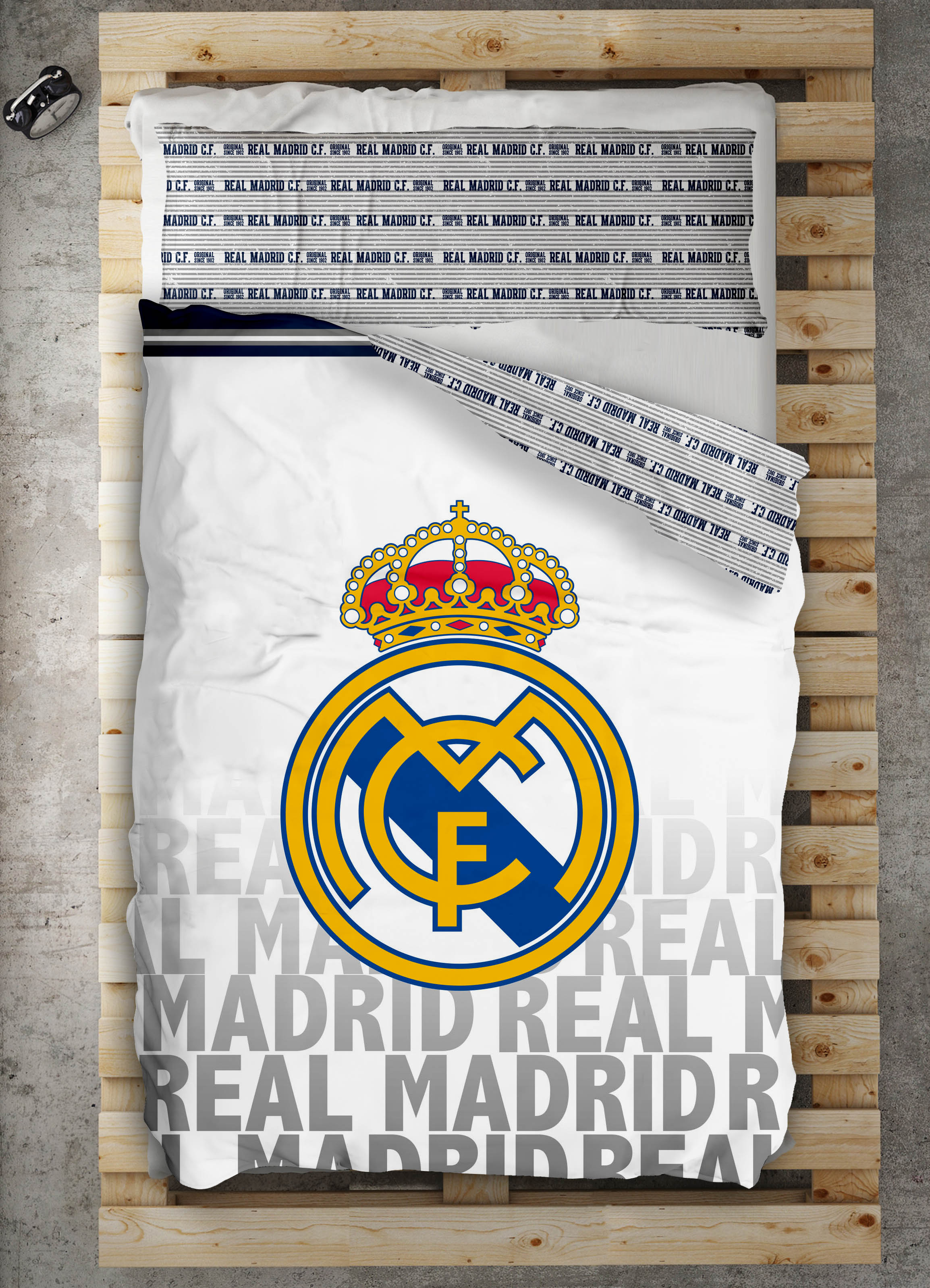 FUNDA NORDICA EMBLEMA REAL MADRID 90 cm 105 cm