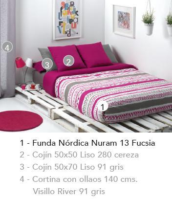 FUNDA NORDICA NURAM 10 ROSA 90 cms