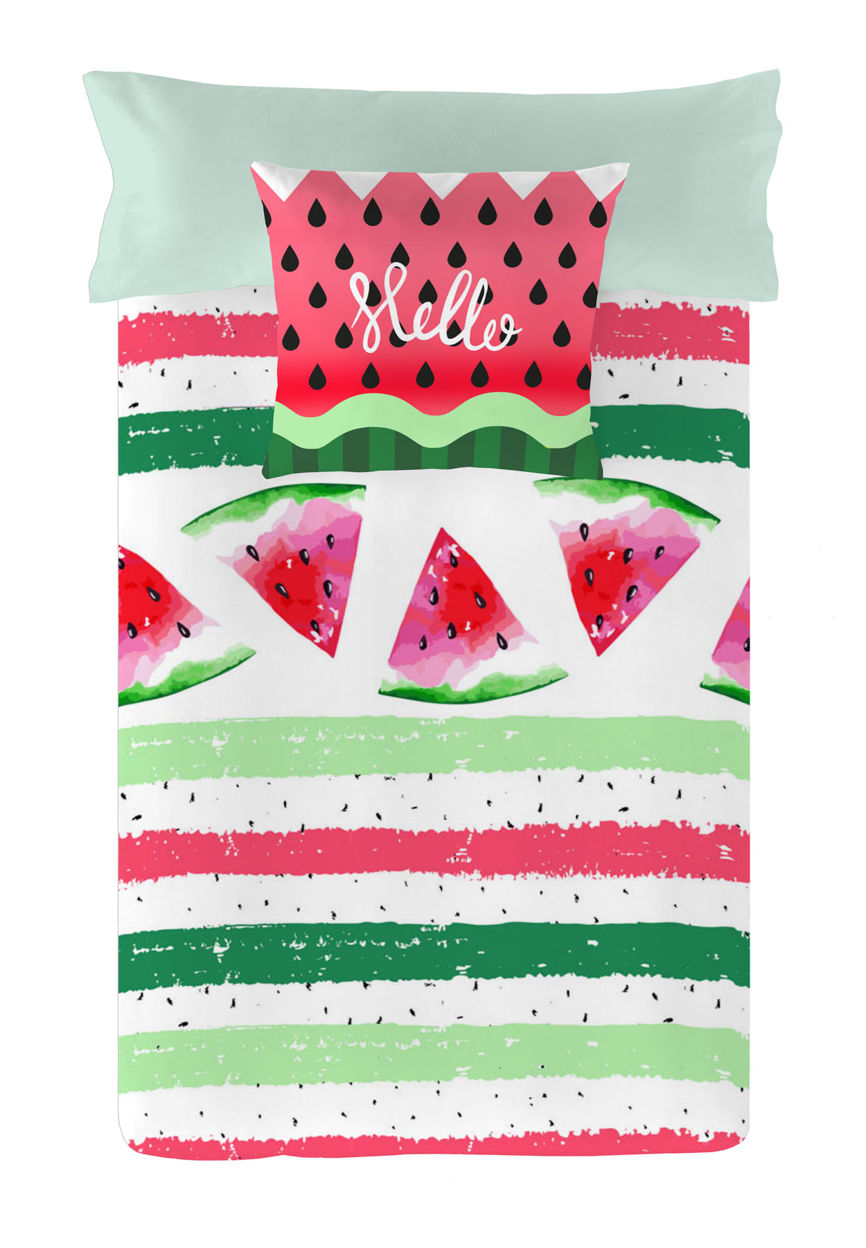 FUNDA NORDICA REVERSIBLE WATERMELON 90 cms