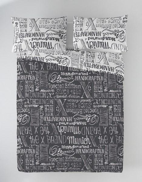 FUNDA NORDICA JET GREY REVERSIBLE 135 cms