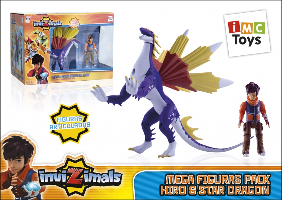 PACK FIGURA INVIZIMALS STARDRAGON+