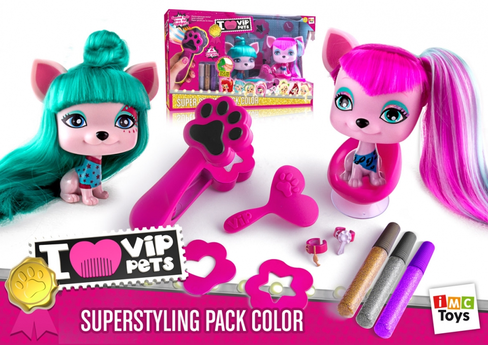 VIP PET  SUPER STYLING PACK COLOR