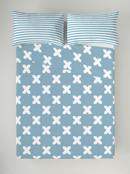 JUEGO SABANAS EVO BLUE 180 cms 150 cms 135 cms 105 cms 90 cms