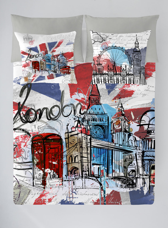 **FUNDA NORDICA LONDON GRAPHIC 150 cms 105 cms 90 cms