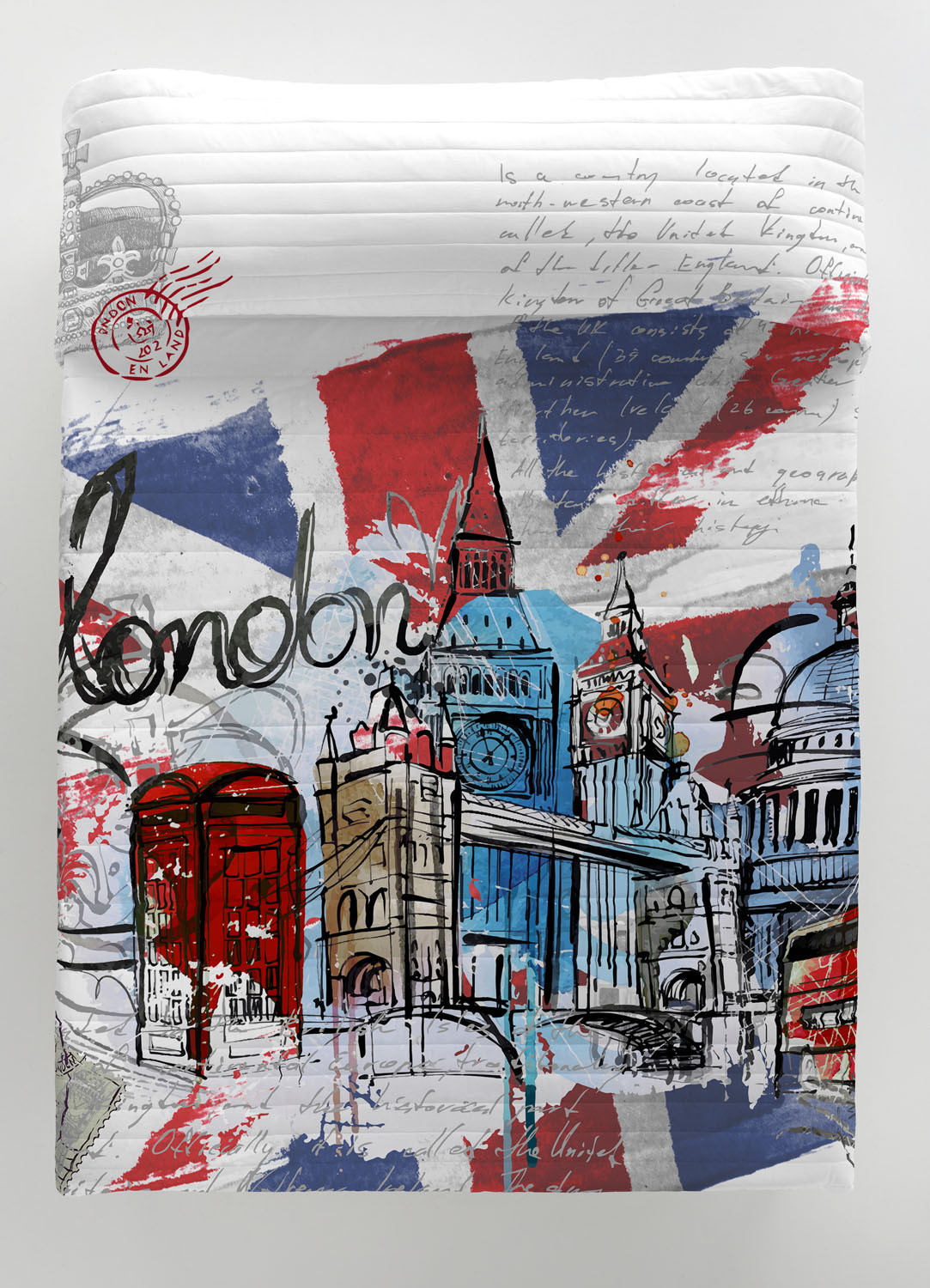 COLCHA BOUTI LONDON GRAPHIC 180 cms 150 cms 135 cms 105 cms 90 cms