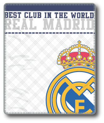 MANTA CORALINA EMBLEMA REAL MADRID
