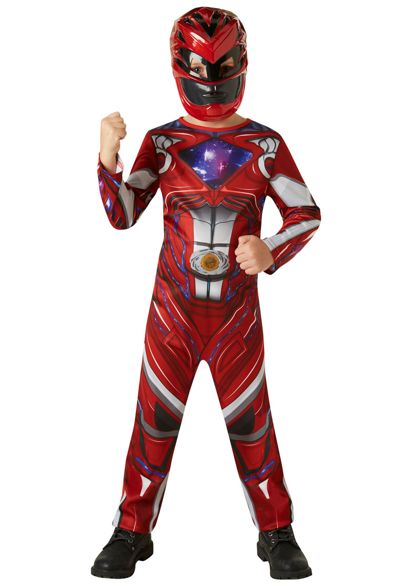 DISFRAZ POWER RANGER RED 5 - 6 AÑOS