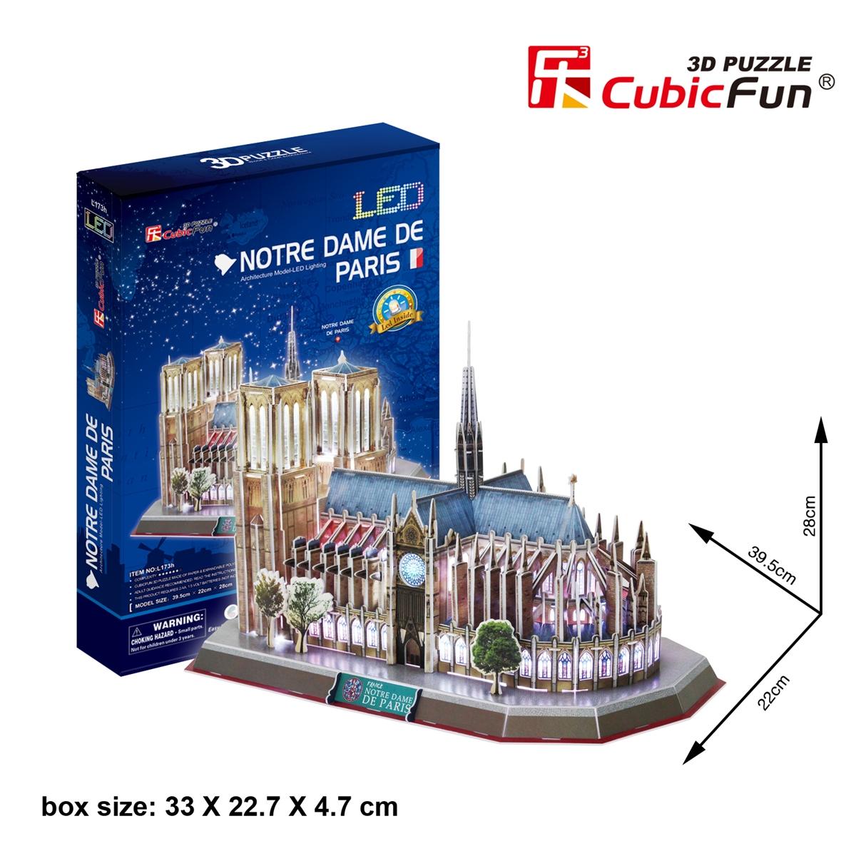 PUZZLE 3D LED NOTRE DAME DE PARIS