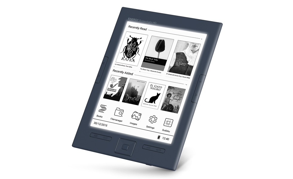 "Energy eReader Screenlight HD (6"", Eink Carta HD, Screenlight, 8GB, botón lateral paso de página)"