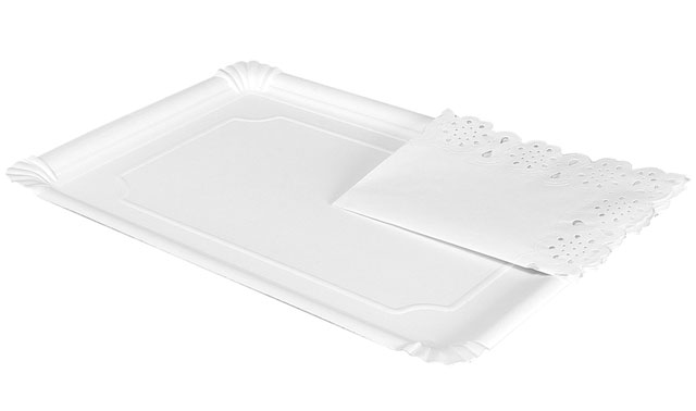 BANDEJA CARTON RECTANGULAR BLANCA +BLONDA 25X34CM