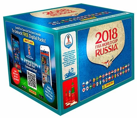 CAJA CON SOBRES ALBUM MUNDIAL RUSSIA 2018