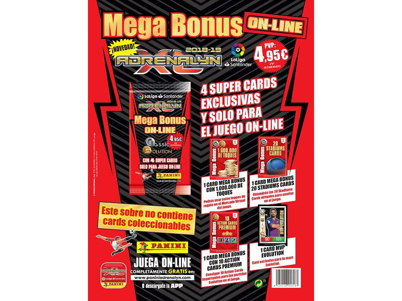 Mega Bonus on-line Adrenalyn Liga Santaner 2018-19