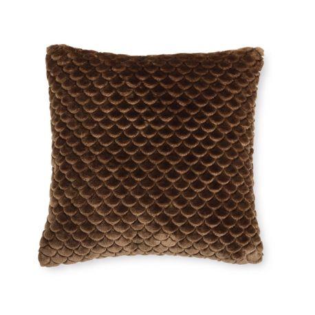 COJIN TEXTURA 11 chocolate 45 x 45 cm con relleno