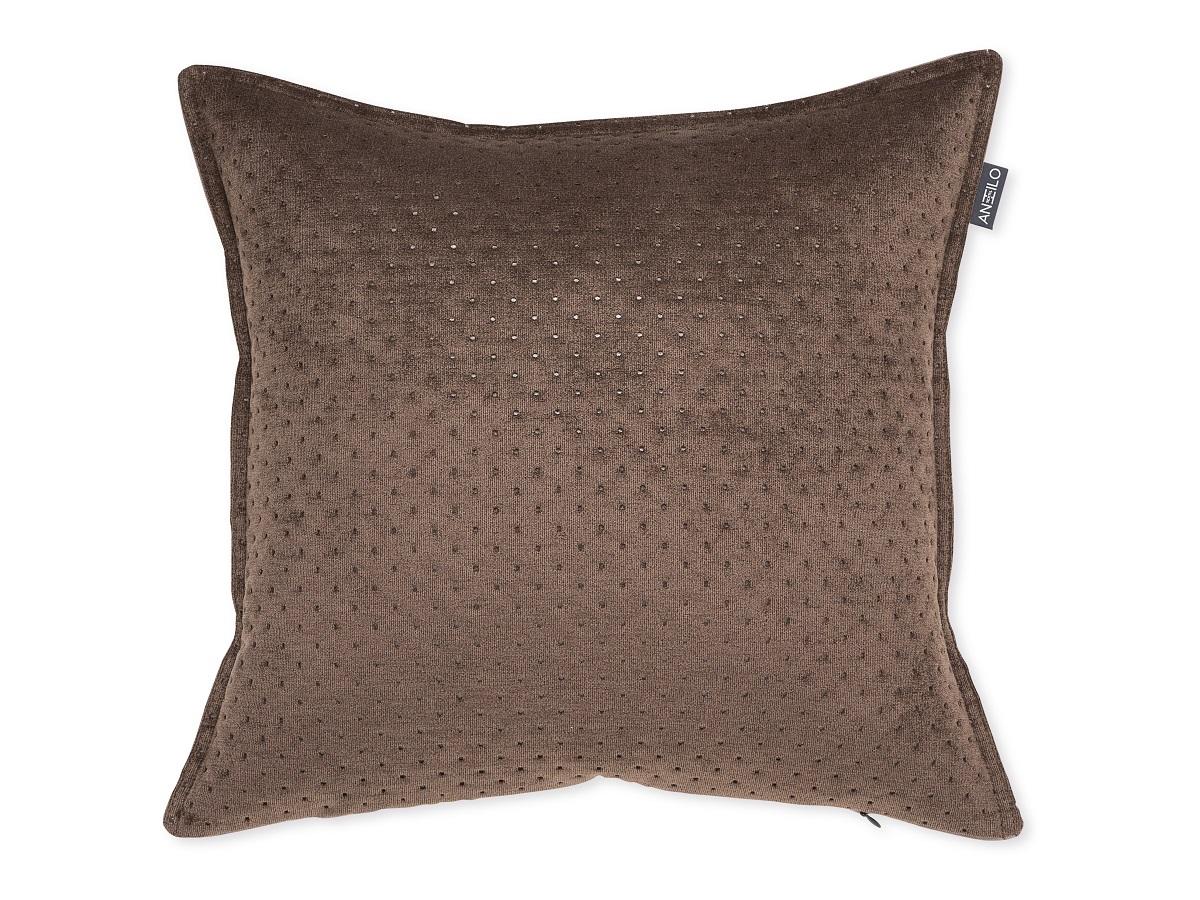 COJIN TEXTURA 13 marrón 45 x 45 cm con relleno