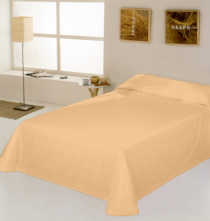 COLCHA RUSTICO LISO Beige 180/200 cms Beige 150/160 cms Beige 135/140 cms Beige 105 cms Beige 90 cms